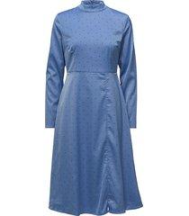 ihara dress ms18 jurk knielengte blauw gestuz