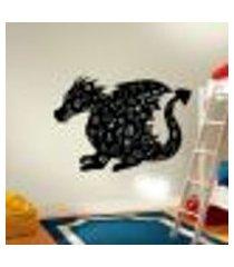 adesivo de lousa para parede dragão - p 40x55cm