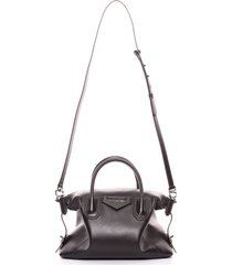 givenchy small antigona soft leather satchel - brown