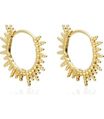 orecchini a cerchio con raggi placcato oro per donna