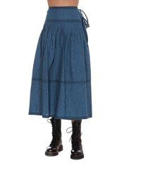 tory burch chambray skirt