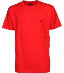 marcelo burlon logo embroidered t-shirt