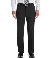 haggar men's premium comfort black 4-way stretch slim fit dress pants - size: 40w x 32l