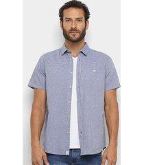 camisa manga curta triton listrada resort masculina