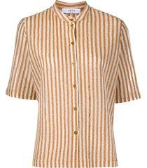 roseanna canvas skinney striped shirt - neutrals