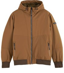 jas quilted stretch-nylon cognac