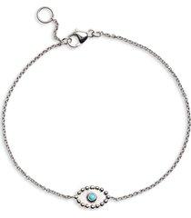 women's anzie dew drop turquoise evil eye bracelet