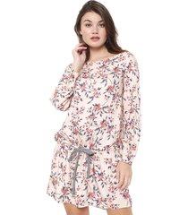 vestido my favorite thing(s) curto floral rosa - rosa - feminino - viscose - dafiti