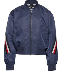 global stripe taped bomber bomberjack blauw tommy hilfiger