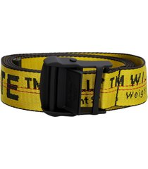 off-white industrial fabric belt with logo