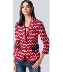 blazer alba moda rood::marine::offwhite
