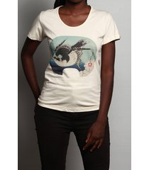 camiseta hokusai art
