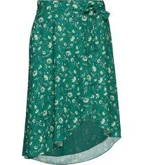 ulla knälång kjol grön fall winter spring summer
