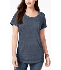 style & co burnout t-shirt, created for macy's