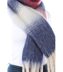 women's plush stripe scarf