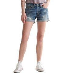 lucky brand ripped cuffed-hem shorts