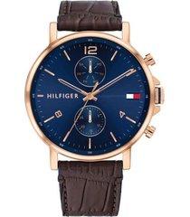 reloj tommy hilfiger 1710418 marrón cuero