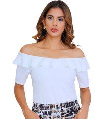blusa off shoulders con bolero en escote natural unipunto 32272