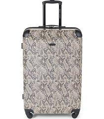 pippa 28-inch snakeskin-print suitcase