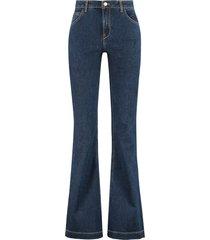lautre chose high-rise bootcut jeans