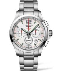longines conquest v.h.p. bracelet watch, 41mm