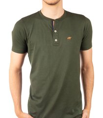 camiseta fondo entero con perilla en contraste verde militar ref. 107021119