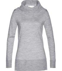 pullover in lana merino con collo a ciambella (grigio) - bpc selection premium