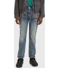 jeans levis 502 taper walter adv azul - calce regular