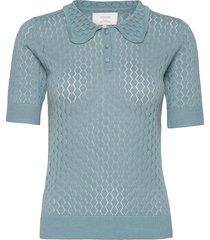 nubethea s/s pullover t-shirts & tops knitted t-shirts/tops blå nümph