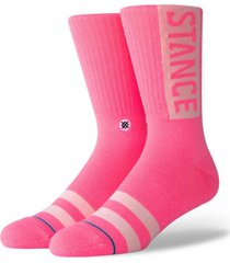 calcetin og rosa stance
