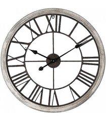 zegar metalowy w ramie bielonej
