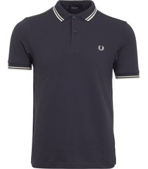 fred perry authentic inky blue m3600 twin tipped polo shirt m3600-e27
