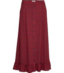 megan skirt lång kjol röd just female