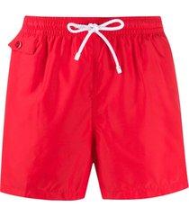 kiton short de natação reto - vermelho