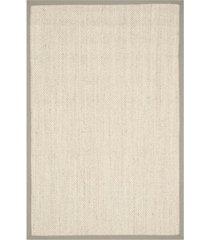 safavieh natural fiber marble and khaki 4' x 6' sisal weave area rug