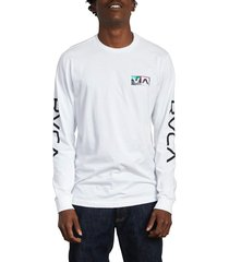 men's rvca testing long sleeve t-shirt