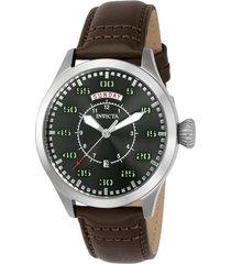 reloj invicta 22973 marrón cuero hombres