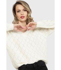 sweater nrg blanco - calce holgado