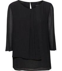 omlottblus creped chiffon blouse