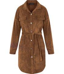 corduroy jurk bruin