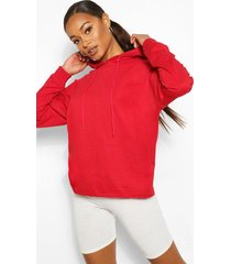 basic oversized hoodie, red