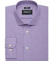 awearness kenneth cole purple plaid slim fit dress shirt