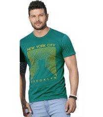 camiseta adulto para hombre mp -verde botella