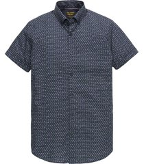short sleeve shirt poplin all-over dark sapphire