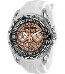 reloj technomarine tm-318002 blanco silicona