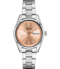 seiko women's essential stainless steel bracelet watch 29.8mm
