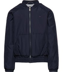 essential tommy tape jacket bomberjack blauw tommy hilfiger