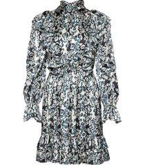 ava mini dress kort klänning blå by malina