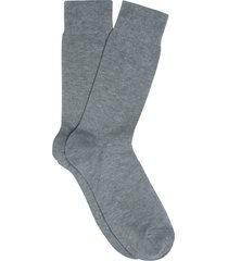 men's suitsupply heathered dress socks, size medium - grey