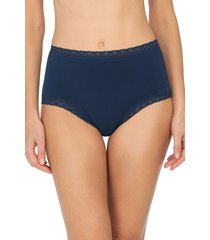 natori bliss full brief panty underwear intimates, women's, blue, cotton, size xxl natori